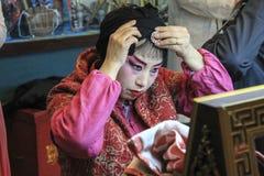Sichuan-Opern-Make-up Lizenzfreies Stockbild