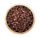 Sichuan pepper. Isolated on white background stock photos