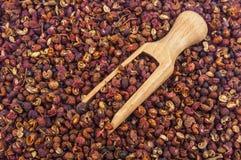 Sichuan pepper. Szechuan peppercorns - Sichuan pepper background Royalty Free Stock Photos
