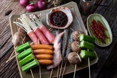Sichuan pieprzu skewer piec na grillu zdjęcia stock