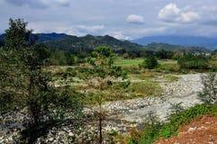 Sichuan Province, China: Rocky Jianjiang River Stock Image