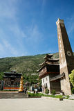 Sichuan province Chinese Tibetan Village Royalty Free Stock Image