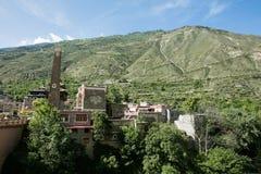 Sichuan-Provinz chinesisches tibetanisches Dorf Stockfotografie