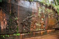 Sichuan Shu περιοχή τριάντα έξι θάλασσας μπαμπού γιαγιάδων μεγάλη πέτρα Στοκ εικόνες με δικαίωμα ελεύθερης χρήσης