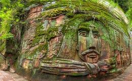 Sichuan Shu περιοχή τριάντα έξι θάλασσας μπαμπού γιαγιάδων μεγάλη πέτρα Στοκ εικόνα με δικαίωμα ελεύθερης χρήσης