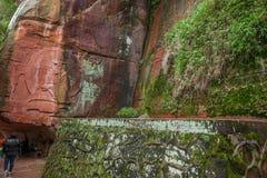 Sichuan Shu περιοχή τριάντα έξι θάλασσας μπαμπού γιαγιάδων μεγάλη πέτρα Στοκ Φωτογραφίες