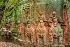 Sichuan Shu περιοχή τριάντα έξι θάλασσας μπαμπού γιαγιάδων μεγάλη πέτρα Στοκ φωτογραφίες με δικαίωμα ελεύθερης χρήσης