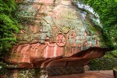 Sichuan Shu περιοχή τριάντα έξι θάλασσας μπαμπού γιαγιάδων μεγάλη πέτρα Στοκ Εικόνες