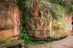 Sichuan Shu περιοχή τριάντα έξι θάλασσας μπαμπού γιαγιάδων μεγάλη πέτρα Στοκ Εικόνα