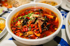 Sichuan style spicy food Stock Photo