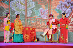 Sichuanese Opera Performance on Lantern Festival Royalty Free Stock Photo