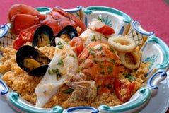 Sicilan fish couscous Royalty Free Stock Image