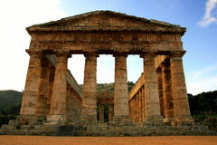 Sicilië, Griekse tempelruïnes Royalty-vrije Stock Foto's