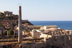 Sicilië: Tonnara van Capo Passero Royalty-vrije Stock Foto