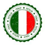 Sicilia flaga odznaka Zdjęcia Stock