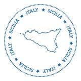 Sicilia-Kartenaufkleber Lizenzfreie Stockfotografie