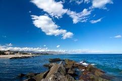 Sicilia - mar Mediterráneo Fotos de archivo