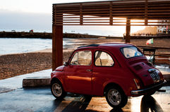 Sicilia October 09 2011 Mini car fiat 500 Stock Image
