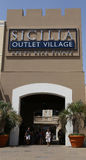 Sicilia outlet village Royalty Free Stock Images