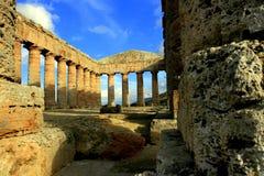 Sicilia, ruinas griegas del templo Fotos de archivo libres de regalías