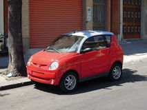 Sicilia, Small Red Car in Catania Stock Images