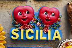 Free Sicilia With Red Hearts Stock Photos - 18593023