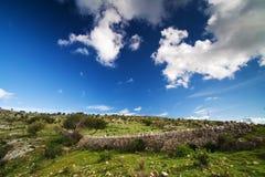 Siciliaans landschap stock afbeeldingen