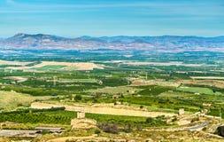 Siciliaans landschap bij Provincie van Catanië, Italië Royalty-vrije Stock Foto's