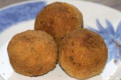 Siciliaanse arancino Stock Foto