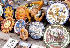 Siciliaanse herinneringswinkel Stock Afbeeldingen