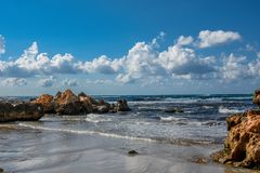Siciliaanse kustmening in de zomer Stock Foto