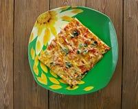Siciliaanse Pizza Royalty-vrije Stock Afbeeldingen