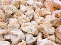 Sicilian almond biscuits. Traditional italian biscuit with almond Stock Images