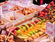 Sicilian almond sweets and marzipan Royalty Free Stock Photography