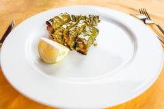 Sicilian antipasi - lemon leaf meatballs Stock Image