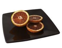 Sicilian apelsin som isoleras på en vit bakgrund royaltyfria foton