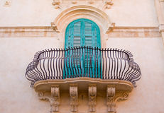Sicilian architecture. Typical architecture detail of old sicilian town Stock Image