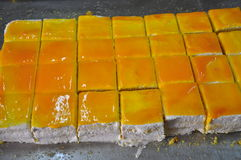 Sicilian bakery workshop. Traditional orange cake Stock Photos