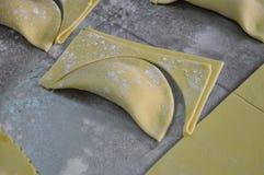 Sicilian bakery workshop. Traditional pastry cassatella Royalty Free Stock Photo