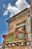 Sicilian balcony royalty free stock photo