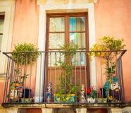 Sicilian balcony Royalty Free Stock Image