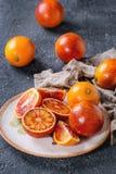 Sicilian blodapelsinfrukter Arkivbilder