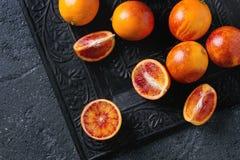 Sicilian blodapelsinfrukter Arkivbild