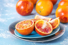 Sicilian Blood oranges fruits Royalty Free Stock Photography
