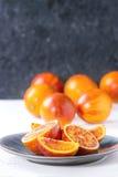 Sicilian Blood oranges fruits Stock Photo