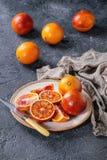 Sicilian Blood oranges fruits Royalty Free Stock Photo