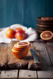 Sicilian Bloody Red oranges candied slices. Royalty Free Stock Image