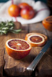 Sicilian Bloody Red oranges candied slices. Royalty Free Stock Photography