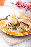 Sicilian brioche with ice cream Royalty Free Stock Photo