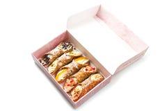 Sicilian cannoli Stock Photo